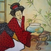 Geisha and the Goldfish, acrylic 45 x 60cms  $480