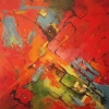 After the Rains, acrylic  76 x 76cms  $650