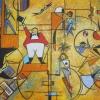 Circus of Cirles, acrylic 60 x 45cms $440