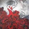 Flamenco, acrylic 40 x 53cms  $400