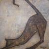 Stretching Cat, acrylic  60 x 60cms  $500